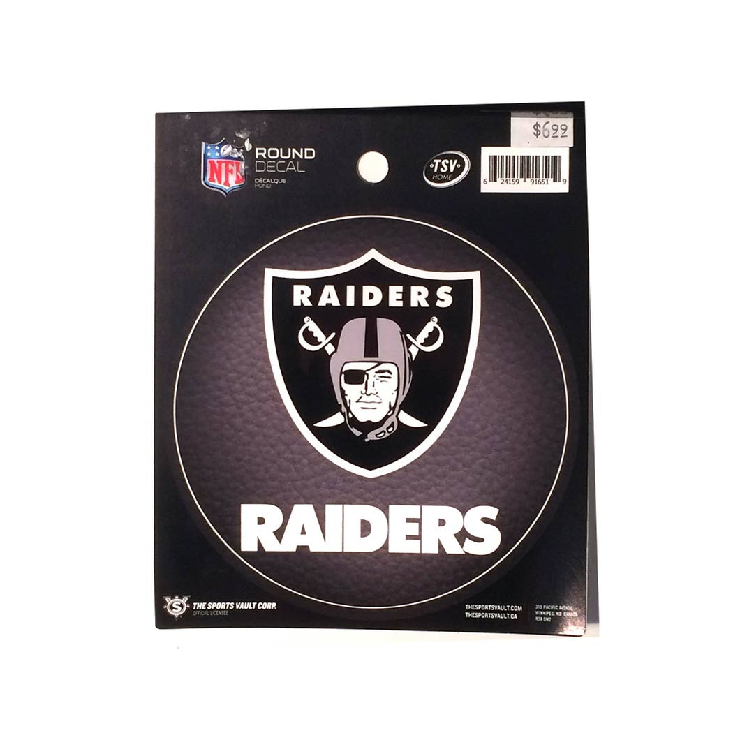 Oakland Raiders Round Decal