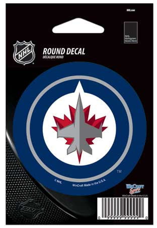Winnipeg Jets NHL Round Decal