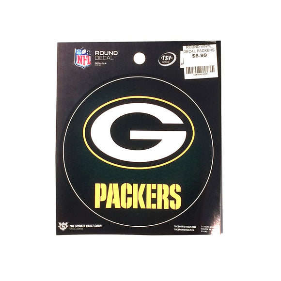 Green Bay Packers Round Decal