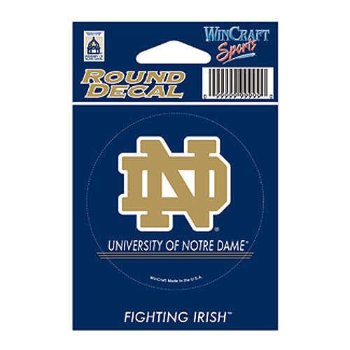 Notre Dame Fighting Irish NCAA Round Decal
