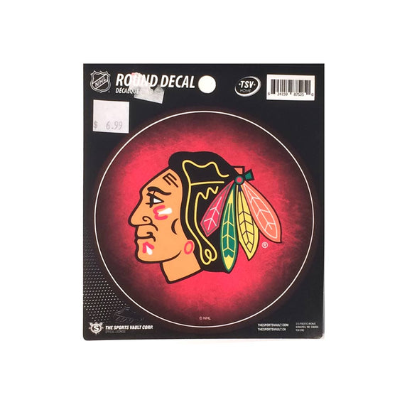 Chicago Blackhawks Round Decal