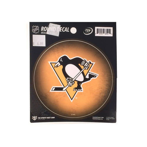 Pittsburgh Penguins Round Decal