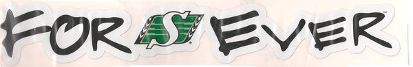 "Saskatchewan Roughriders ""Forever"" Vinyl Decal"