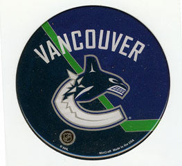 Vancouver Canucks Domed Decal