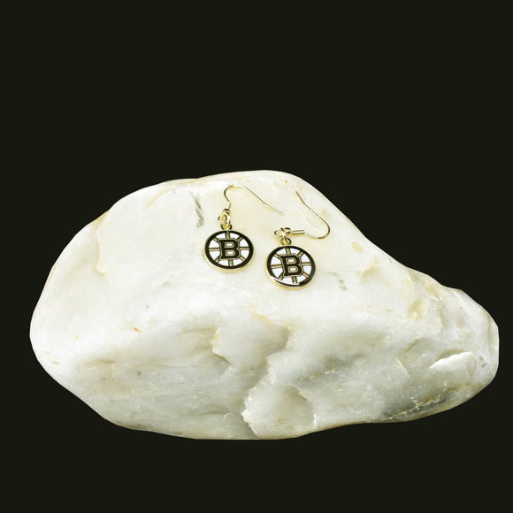 Boston Bruins Team Logo Earrings
