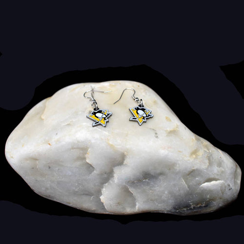 Pittsburgh Penguins Team Logo Earrings