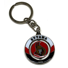 Load image into Gallery viewer, Ottawa Senators Spinner Keychain