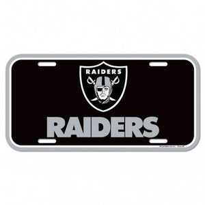 Oakland Raiders License Plate