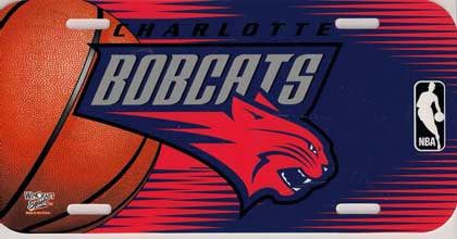 Charlotte Bobcats License Plate