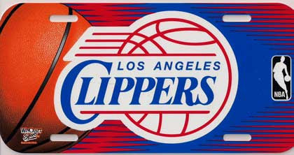 Los Angeles Clippers License Plate