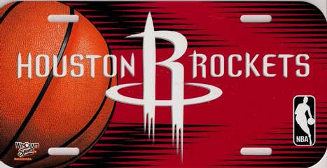Houston Rockets License Plate