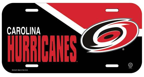 Carolina Hurricanes License Plate