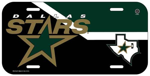 Dallas Stars License Plate