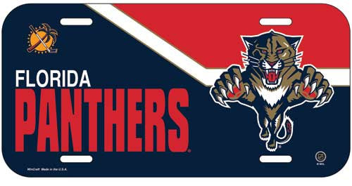 Florida Panthers License Plate