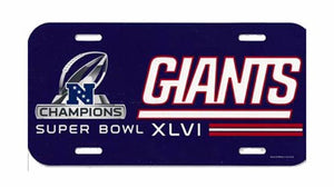 New York Giants Champions License Plate