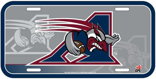 Montreal Alouettes License Plate