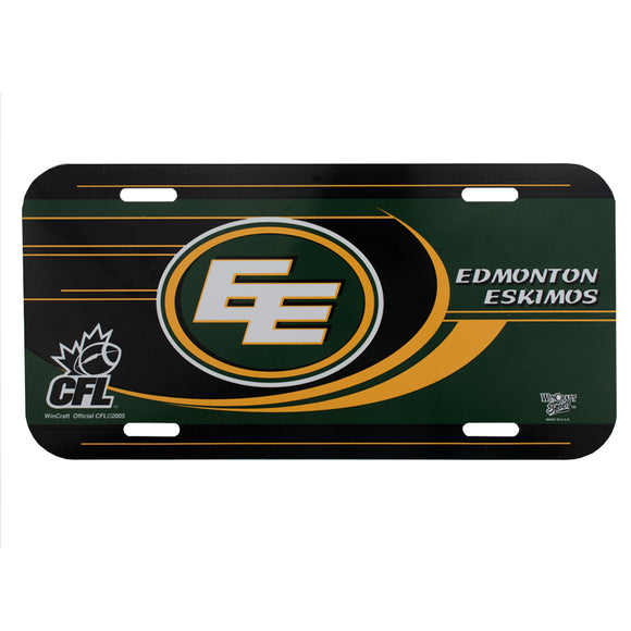 edmonton eskimos cfl license plate