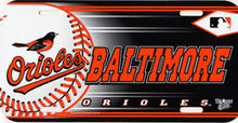Load image into Gallery viewer, Baltimore Orioles License Plate Design #1
