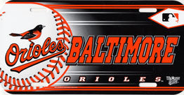 Baltimore Orioles License Plate Design #1