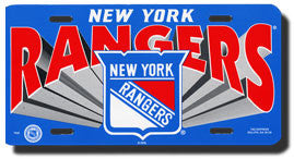 New York Rangers License Plate