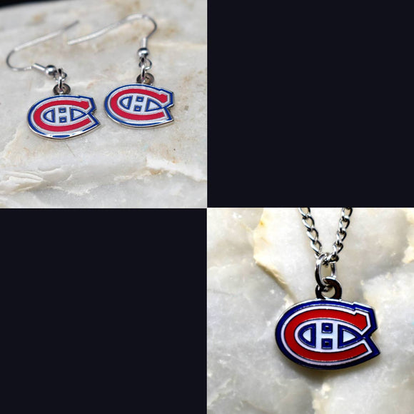 Montreal Canadiens Necklace and Earrings