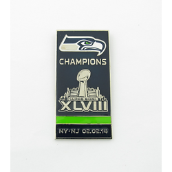 Seattle Seahawks Super Bowl XLVIII Champs Banner Pin