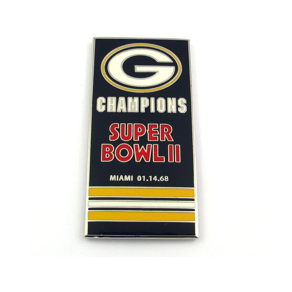 Green Bay Packers Super Bowl 02 Champs Banner Pin