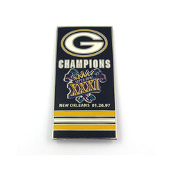 Green Bay Packers Super Bowl 31 Champs Banner Pin
