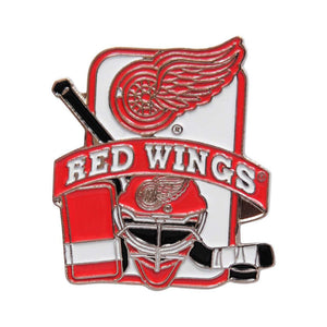 Detroit Red Wings Goalie Equipment Pin
