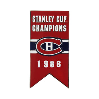 Montreal Canadiens 1986 Stanley Cup Champions Banner Pin