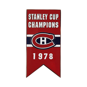 Montreal Canadiens 1978 Stanley Cup Champions Banner Pin