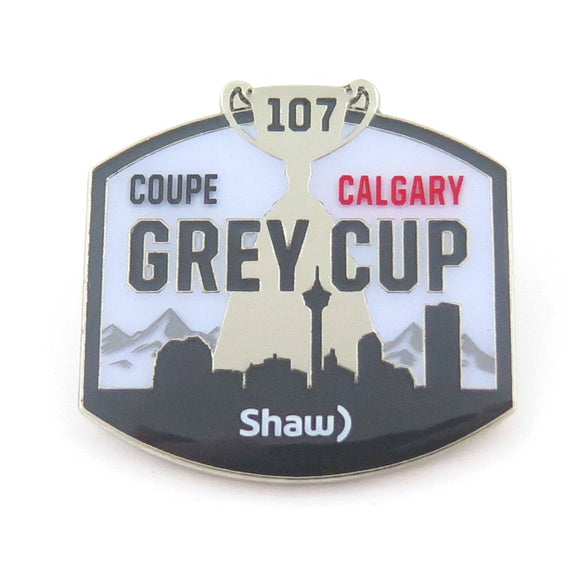 Grey Cup 107 Logo Pin