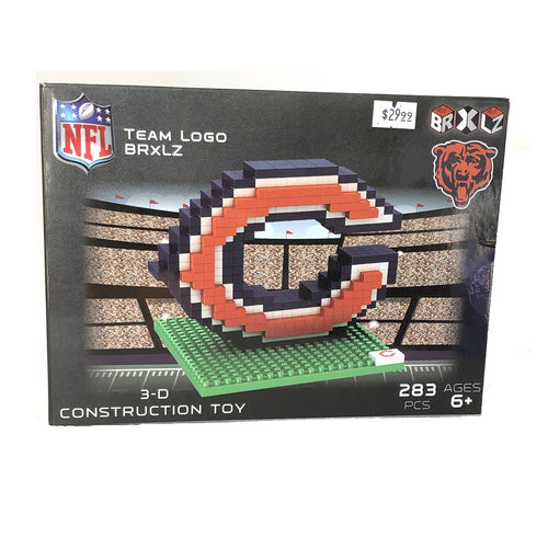 Chicago Bears Logo NFL Team 3D Construction Toy