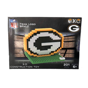Green Bay Packers Logo NFL Team Brxlz 3D Construction Toy