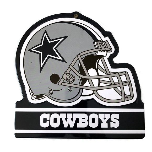 Dallas Cowboys Metal Helmet Sign