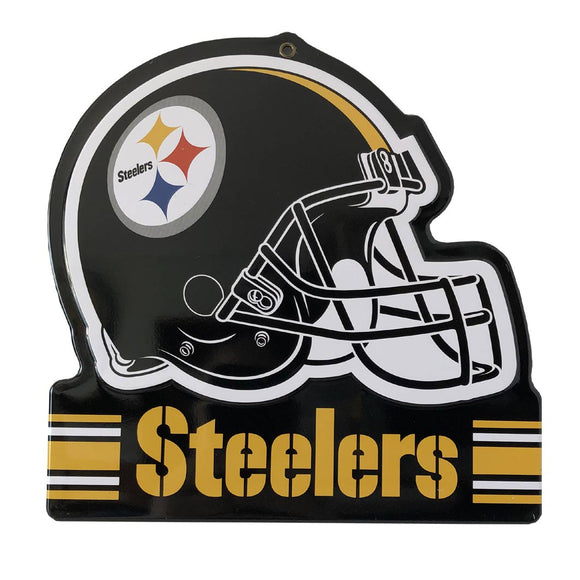 Pittsburgh Steelers Metal Helmet Sign