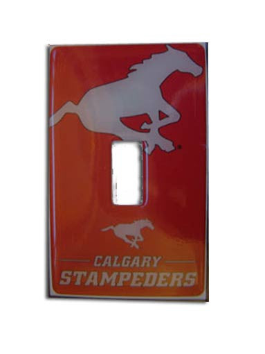 Calgary Stampeders Switch Plate Decal