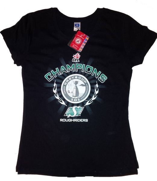 Saskatchewan RoughRiders Women's Championship Black T-shirt