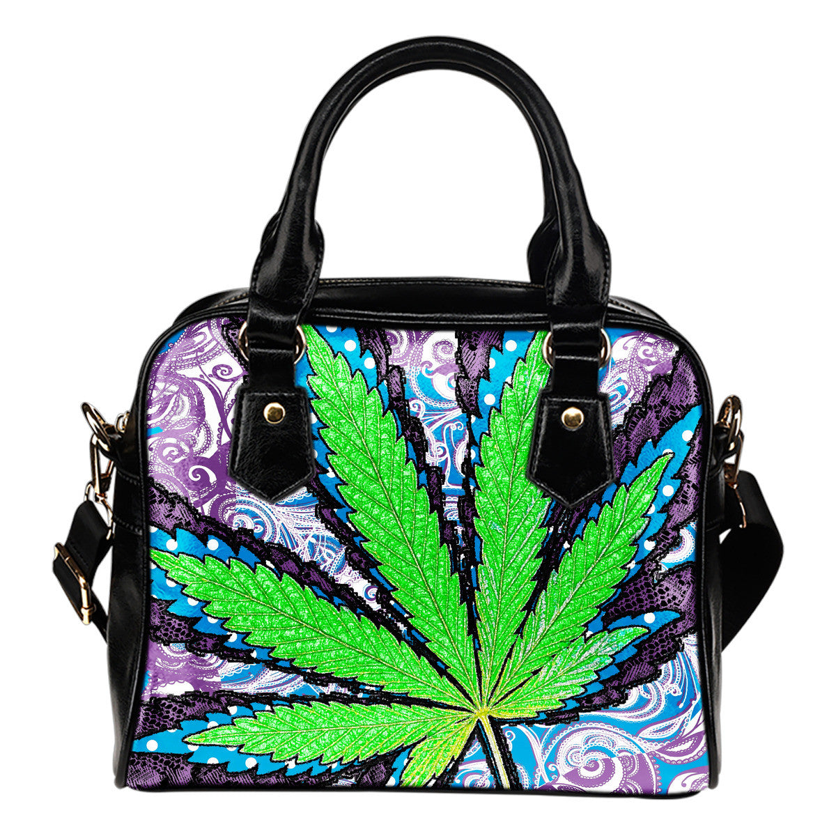 Weed Plant Shoulder Handbag