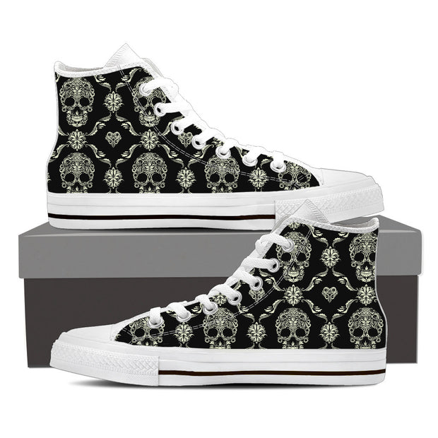 Black Skulls High Tops