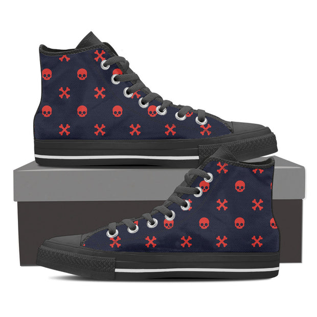Red Skulls Women's High Tops