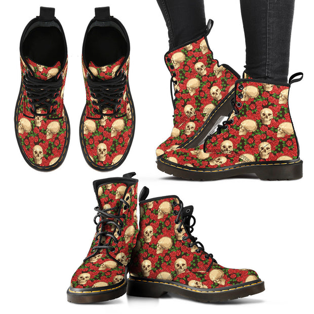 Skulls & Roses Suede Boots