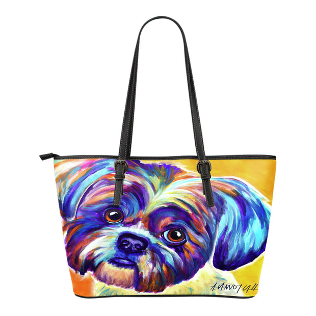 Shih Tzu Leather Tote