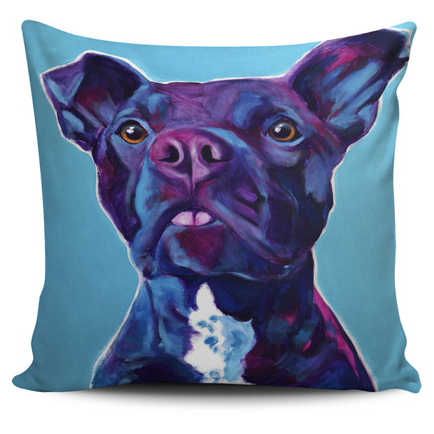 Purple Pit Bull Pillow Cover
