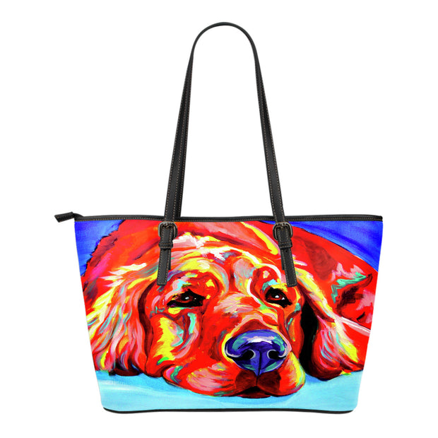 Golden Retriever Leather Tote