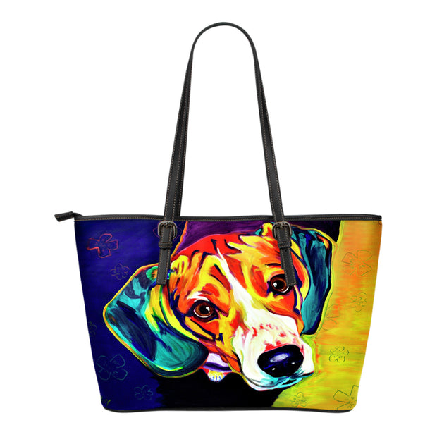 Beagle Leather Tote Bag