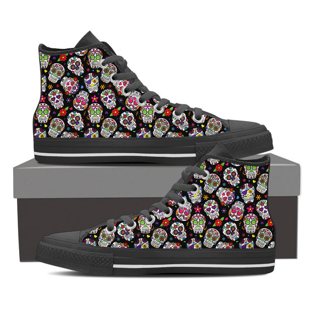 Multicolor Calavera Women's High Tops