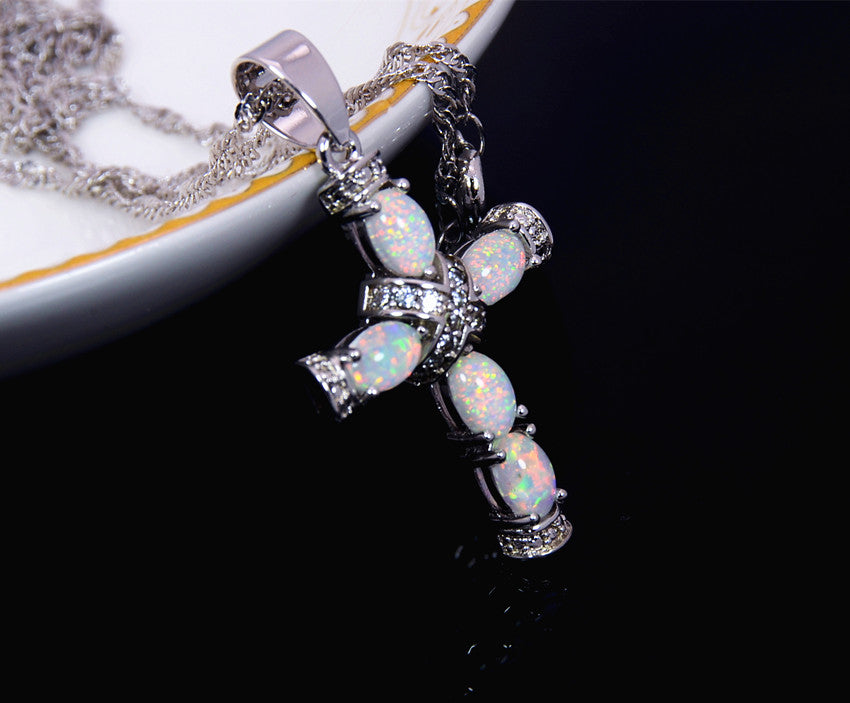 Opal Cross Necklace Secret Offer