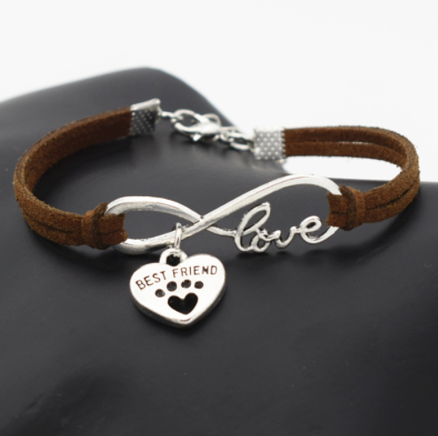 Leather Infinity Love Dog Bracelet Giveaway