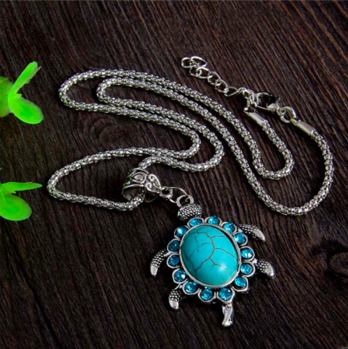 Turtle Turquoise Necklace